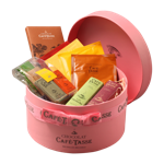 Junior pink hat box café-tasse